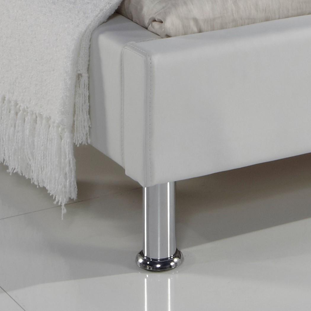 Polsterbett Kunst-Lederbett Weiß Bett 100x200 cm Andre – Bild 3