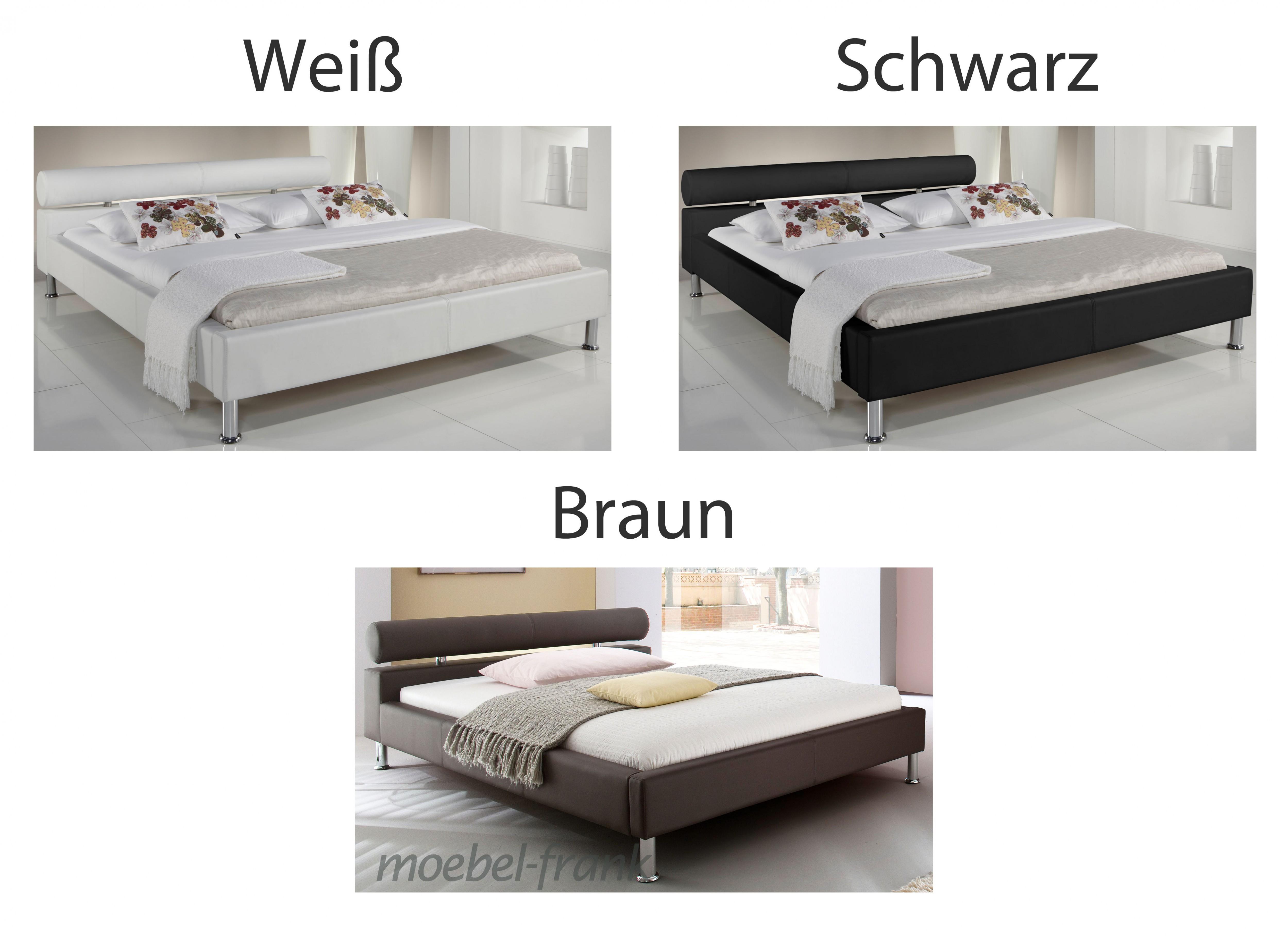 Polsterbett Kunst-Lederbett Weiß Bett 120x200 cm Andre – Bild 6
