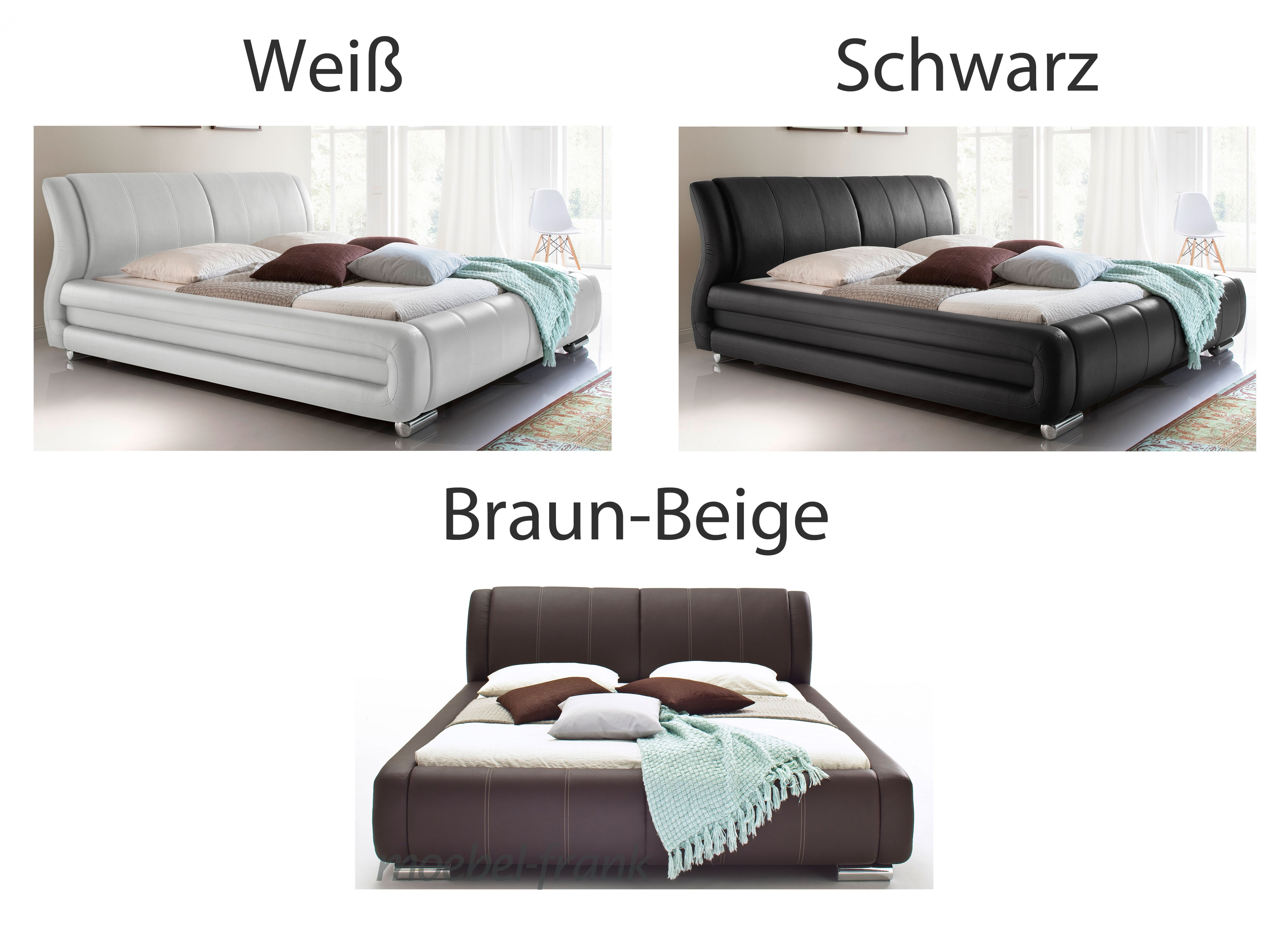 polsterbett kunstlederbett braunbeige komforth he doppelbett bettgestell bastian ebay. Black Bedroom Furniture Sets. Home Design Ideas