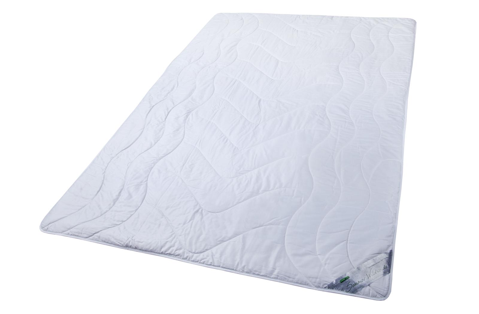 Sommerdecke 100% Wildseide Bezug Edel-Satin Baumwolle Sommer Bettdecken Wiebke – Bild 3