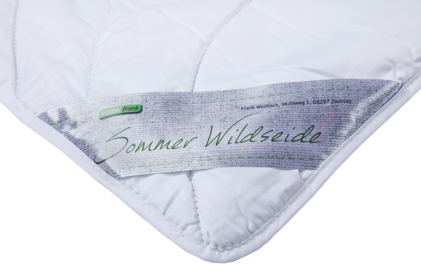 Sommerdecke 100% Wildseide Bezug Edel-Satin Baumwolle Sommer Bettdecken Wiebke – Bild 2