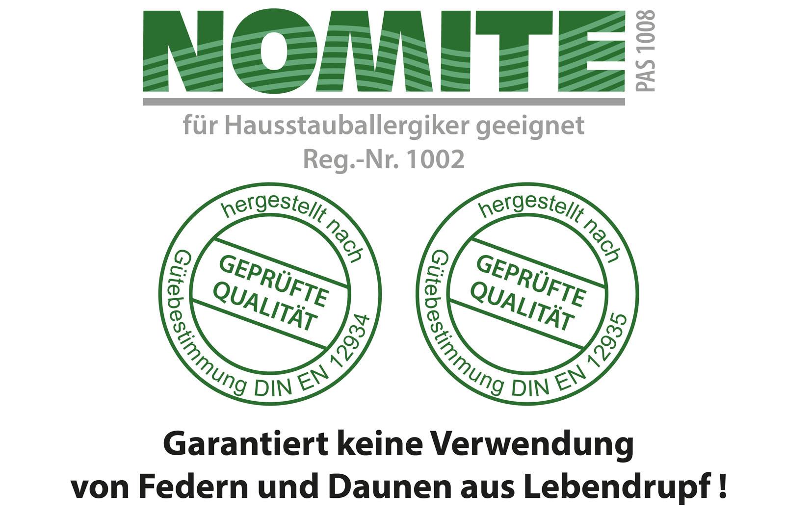 2x 3-Kammer Kopfkissen Premium Kissen Daunen Federn Klasse 1 80x80 Carla – Bild 4