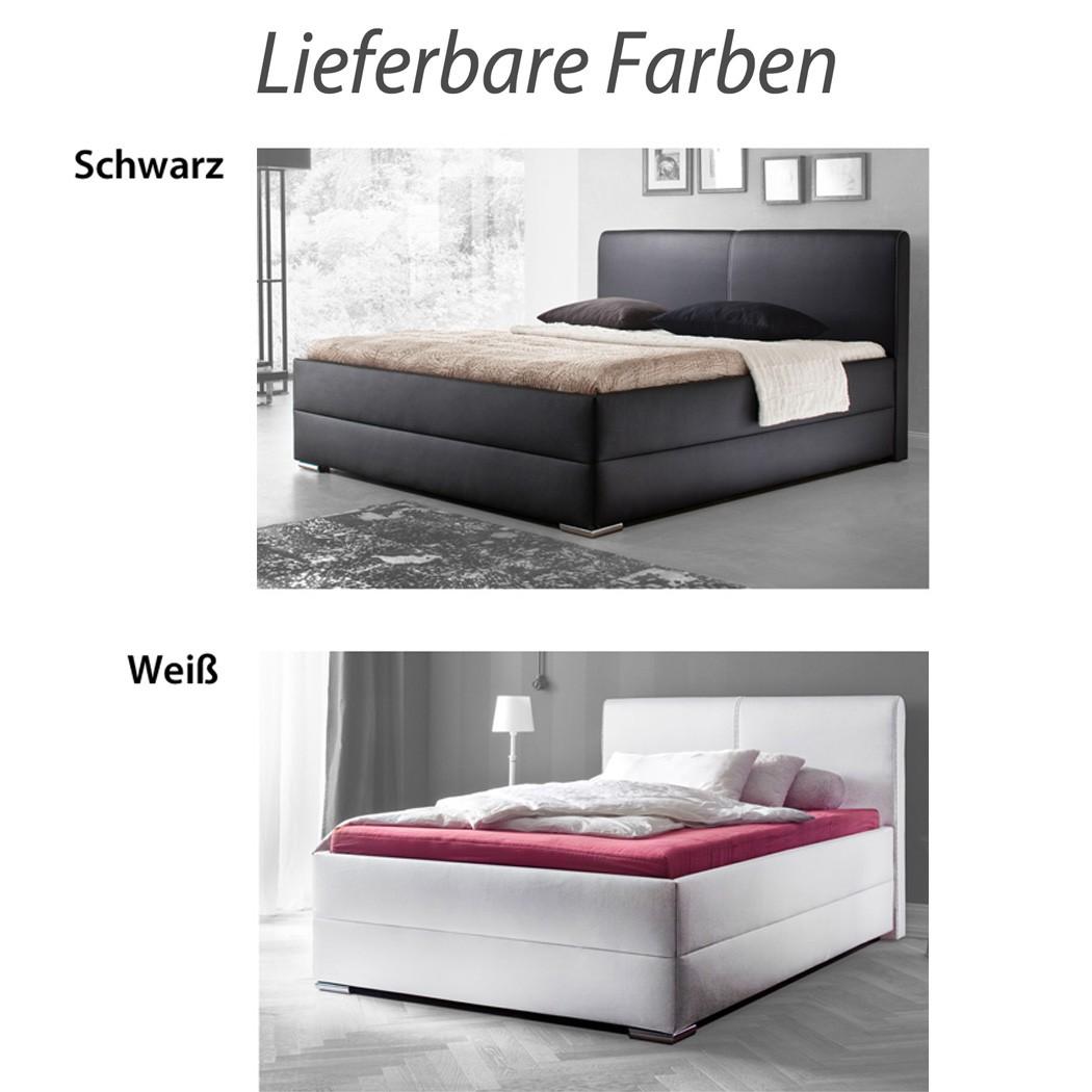 Polsterbett Kunst-Lederbett Schwarz Bett Maggie – Bild 4