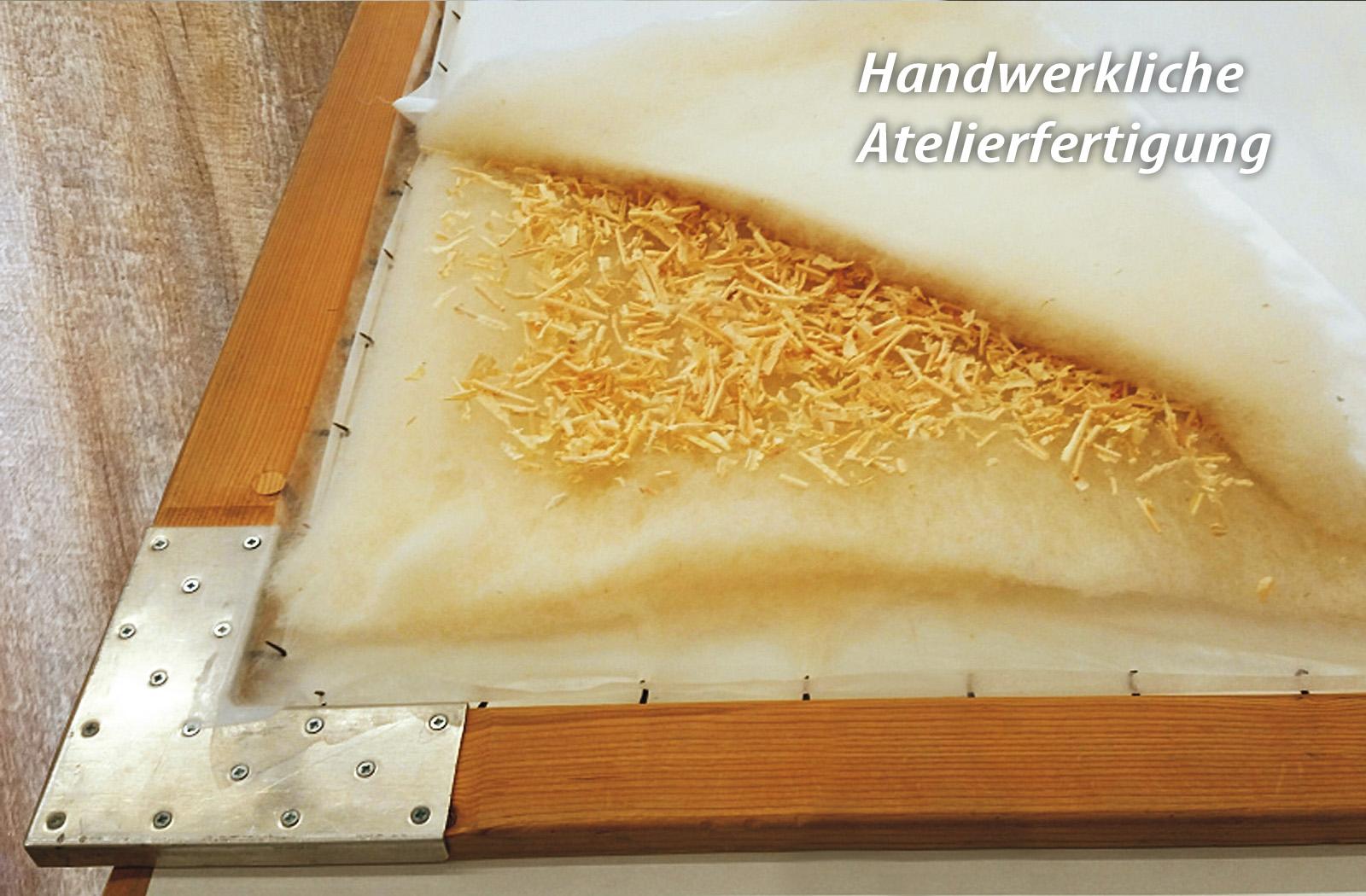 Bettdecke Winterdecke KBT Merino Schurwolle mit Zirbe BIO KBA Baumwolle – Bild 4