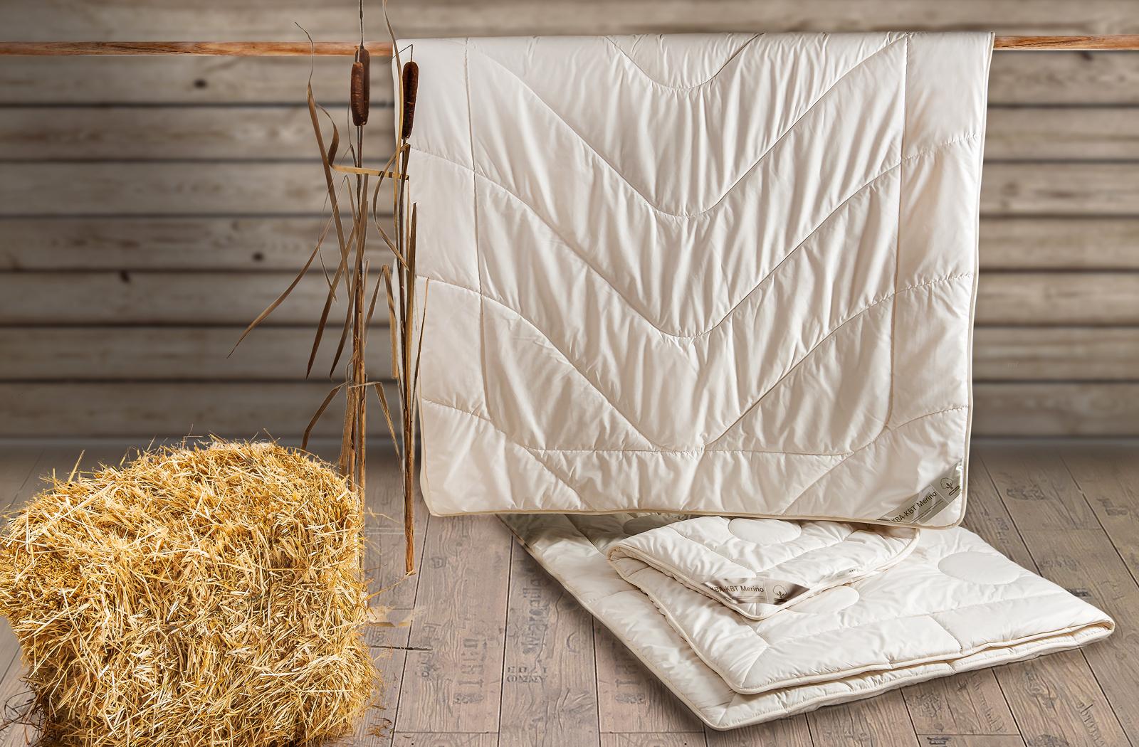 Bettdecke leichte Mono-Ganzjahresdecke KBT Merino Schurwolle mit Zirbe KBA BIO Baumwolle – Bild 3