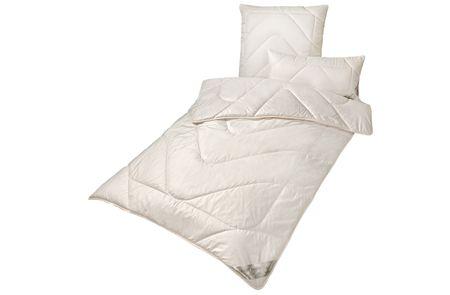 Bettdecke leichte Mono-Ganzjahresdecke KBT Merino Schurwolle mit Zirbe KBA BIO Baumwolle