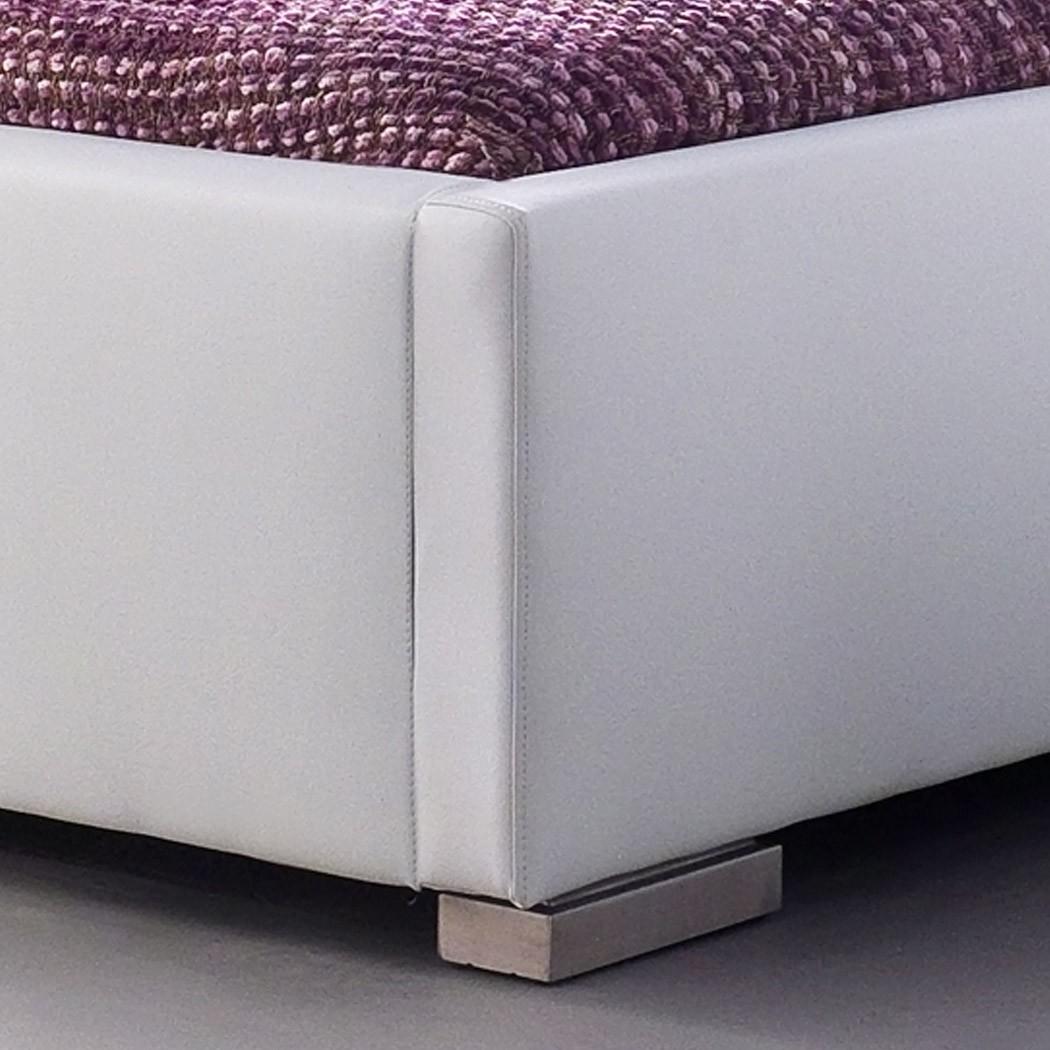 Polsterbett Kunst-Lederbett Weiß Bett Ilka Komfort – Bild 2