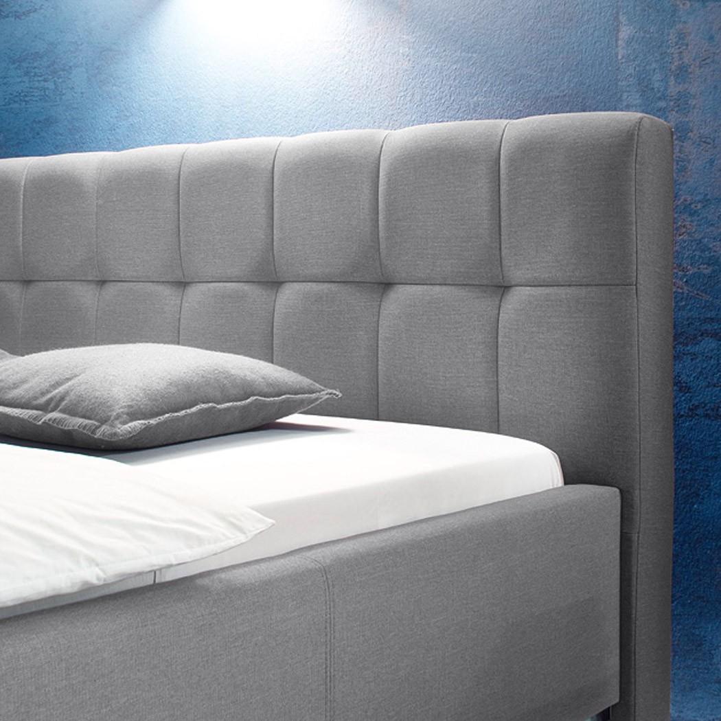 Polsterbett Futonbett Bett Hellgrau Bellana-2 – Bild 2