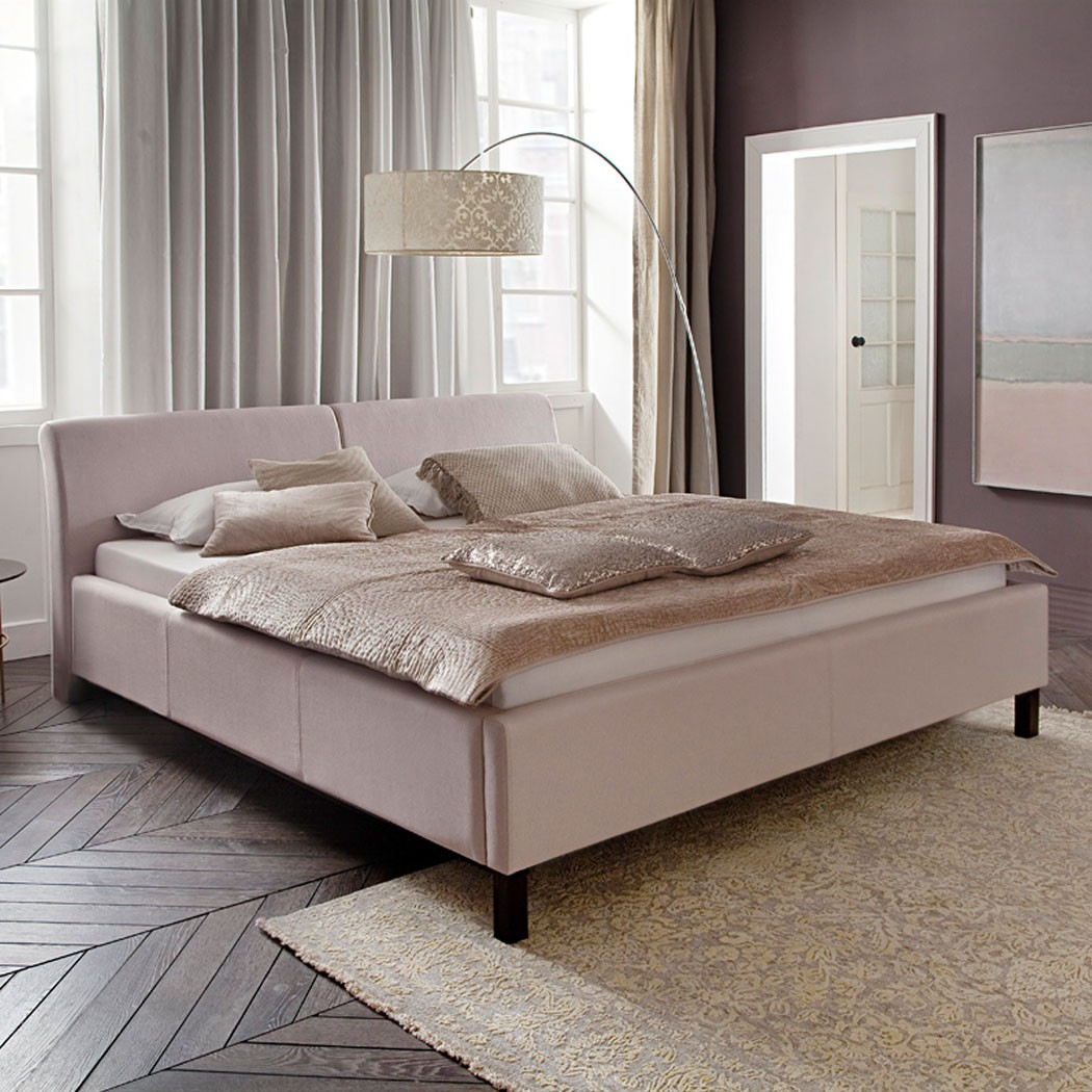polsterbett futonbett doppelbett bettgestell beige komforth he bellana 4 ebay. Black Bedroom Furniture Sets. Home Design Ideas