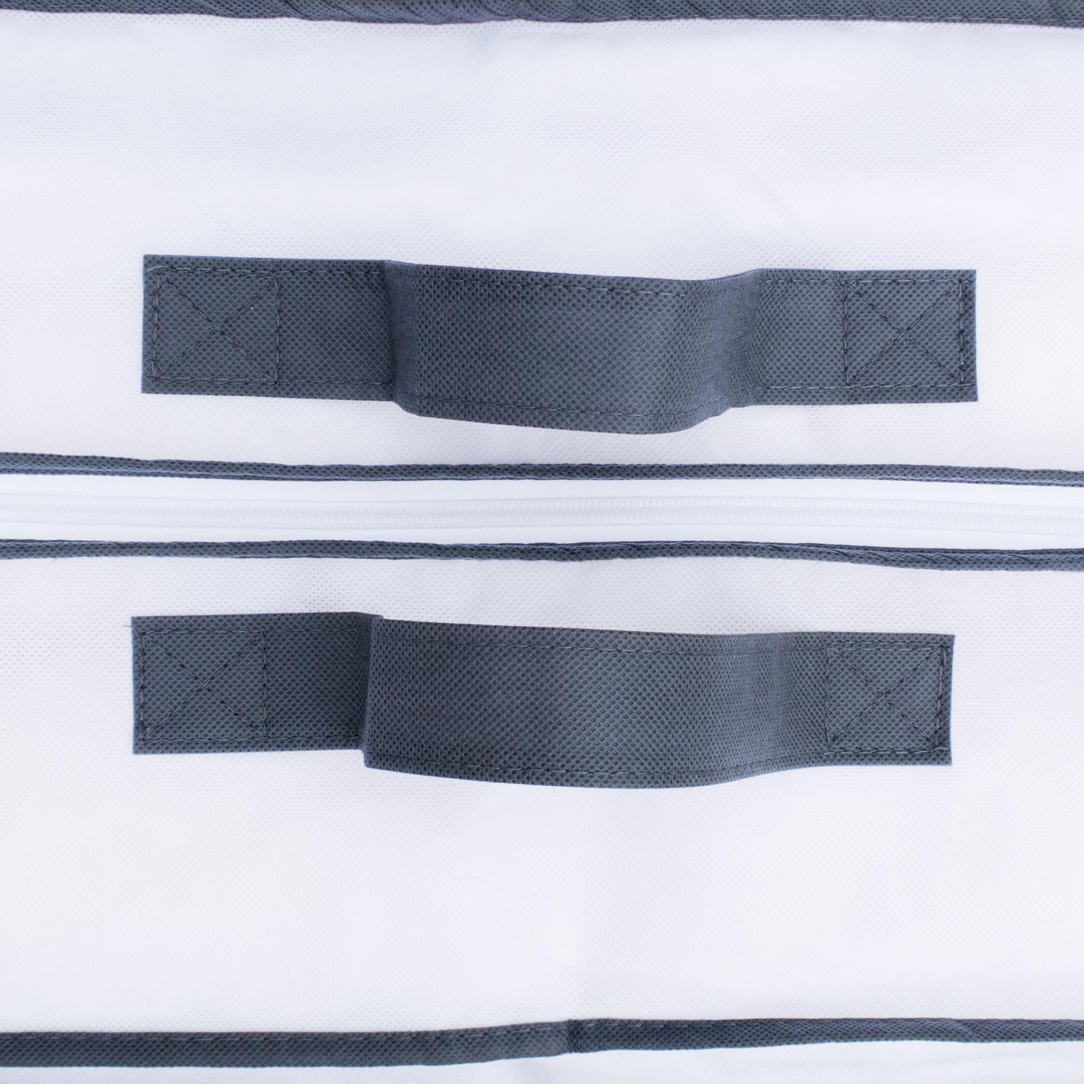 Aufbewahrungstasche 2 Stück Tragetasche für Bettdecken, Kopfkissen und Kissen  – Bild 4