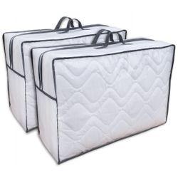 Aufbewahrungstasche 2 Stück Tragetasche für Bettdecken, Kopfkissen und Kissen  001