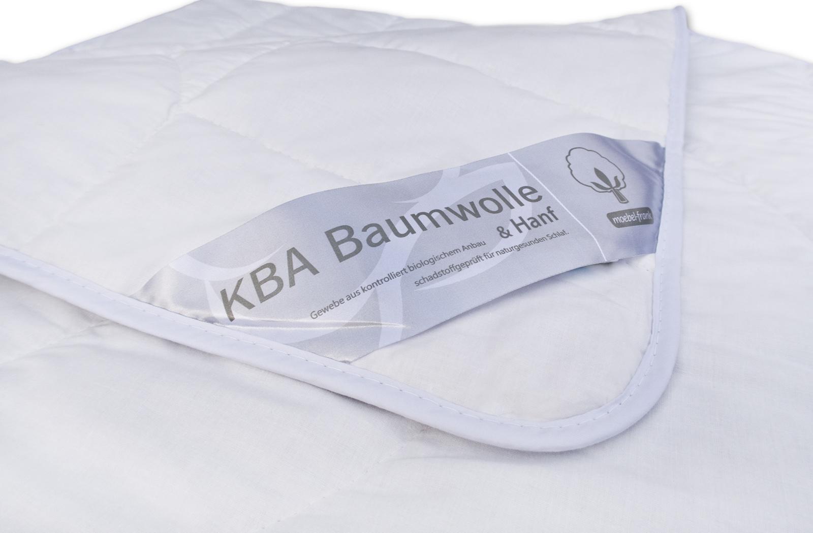 Bettdecke Sommer Hanf Bio Baumwolle kbA Sommerbett Steppbett – Bild 2