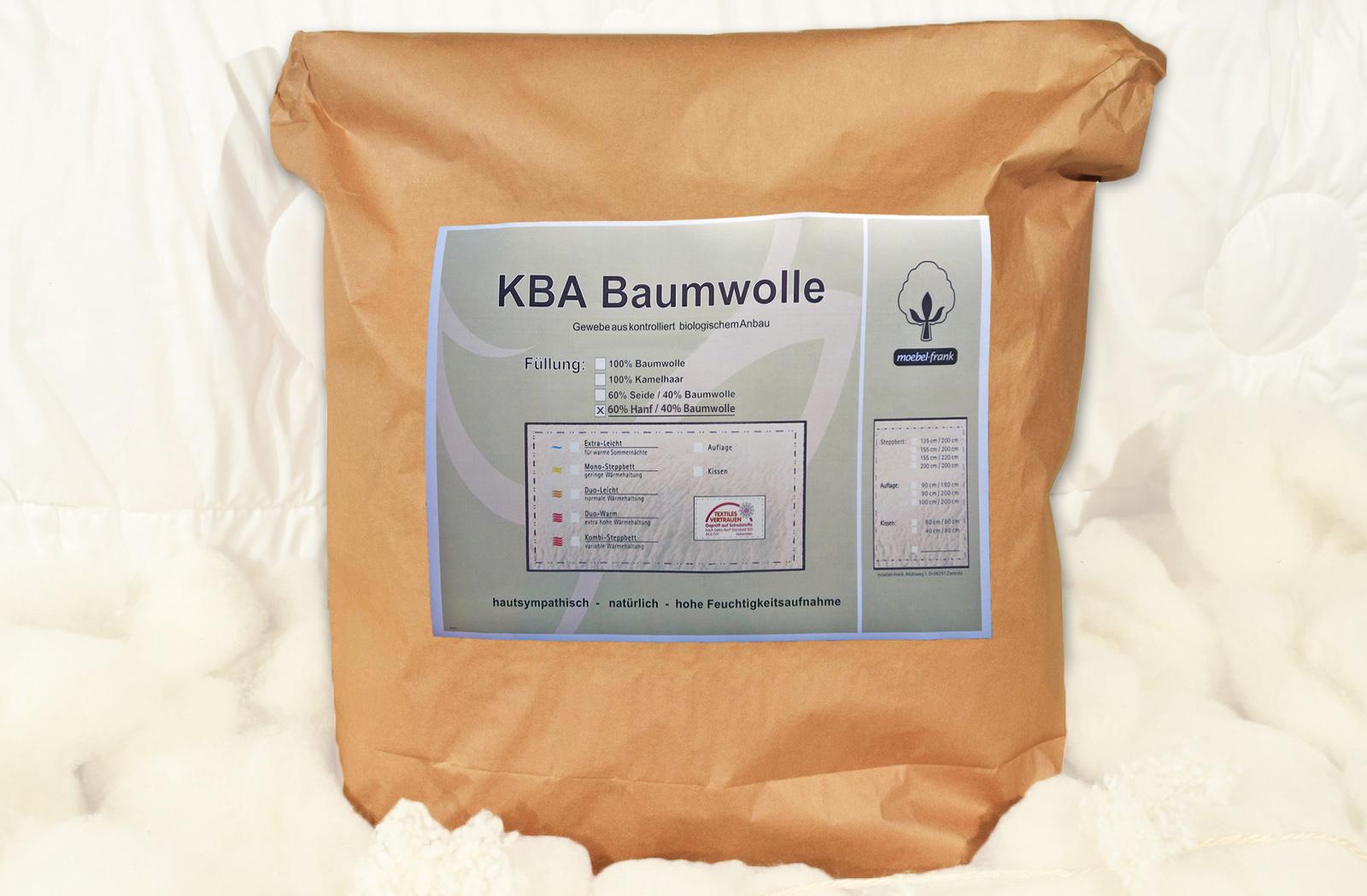 Bettdecke Sommer Hanf Bio Baumwolle kbA Sommerbett Steppbett – Bild 4