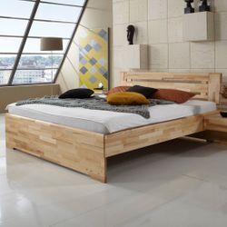 Massivholzbett Kernbuche Geölt Holzbett Doppelbett Bettgestell Edmon 001