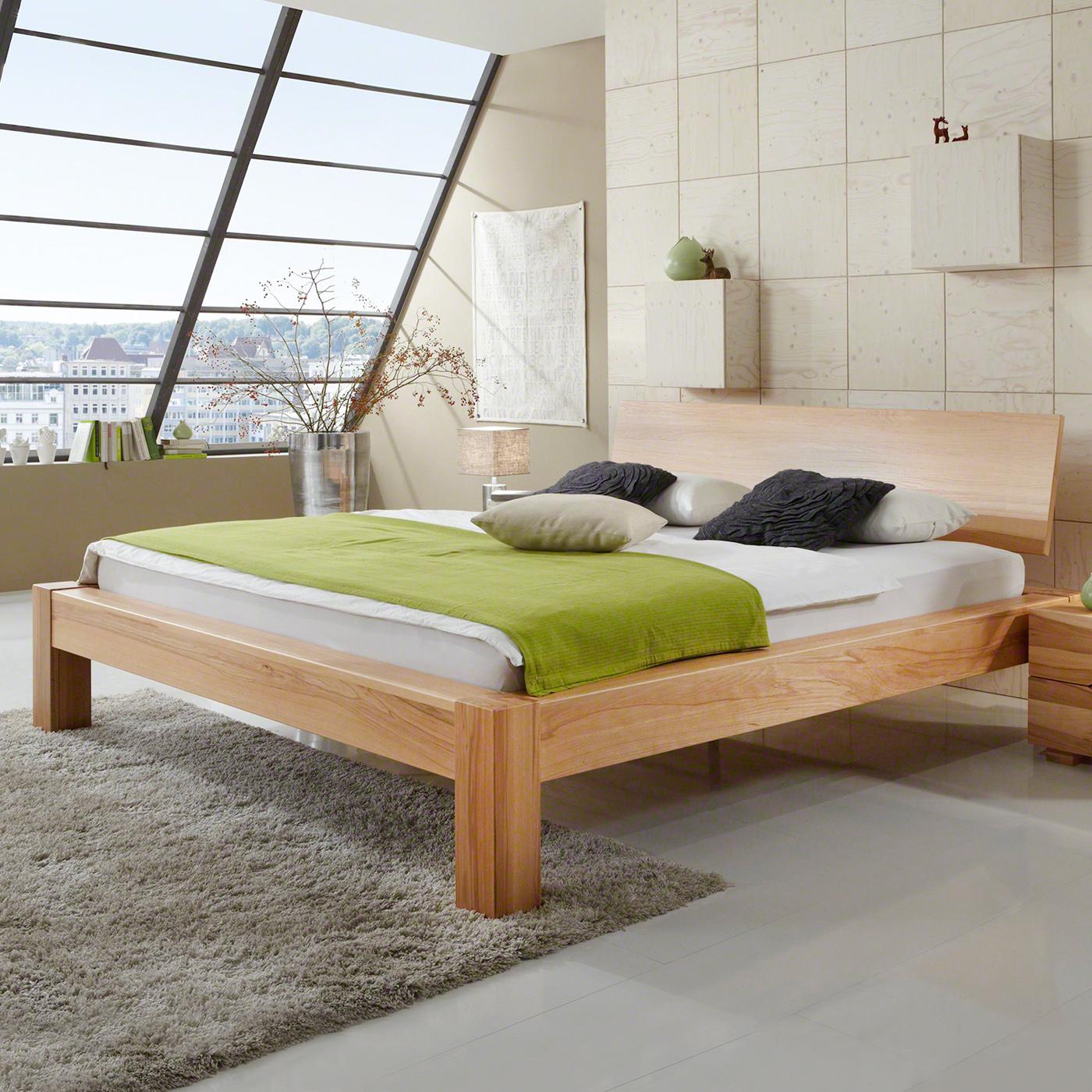 Massivholzbett Kernbuche geölt Holzbett Bettgestell Doppelbett Lonni – Bild 1