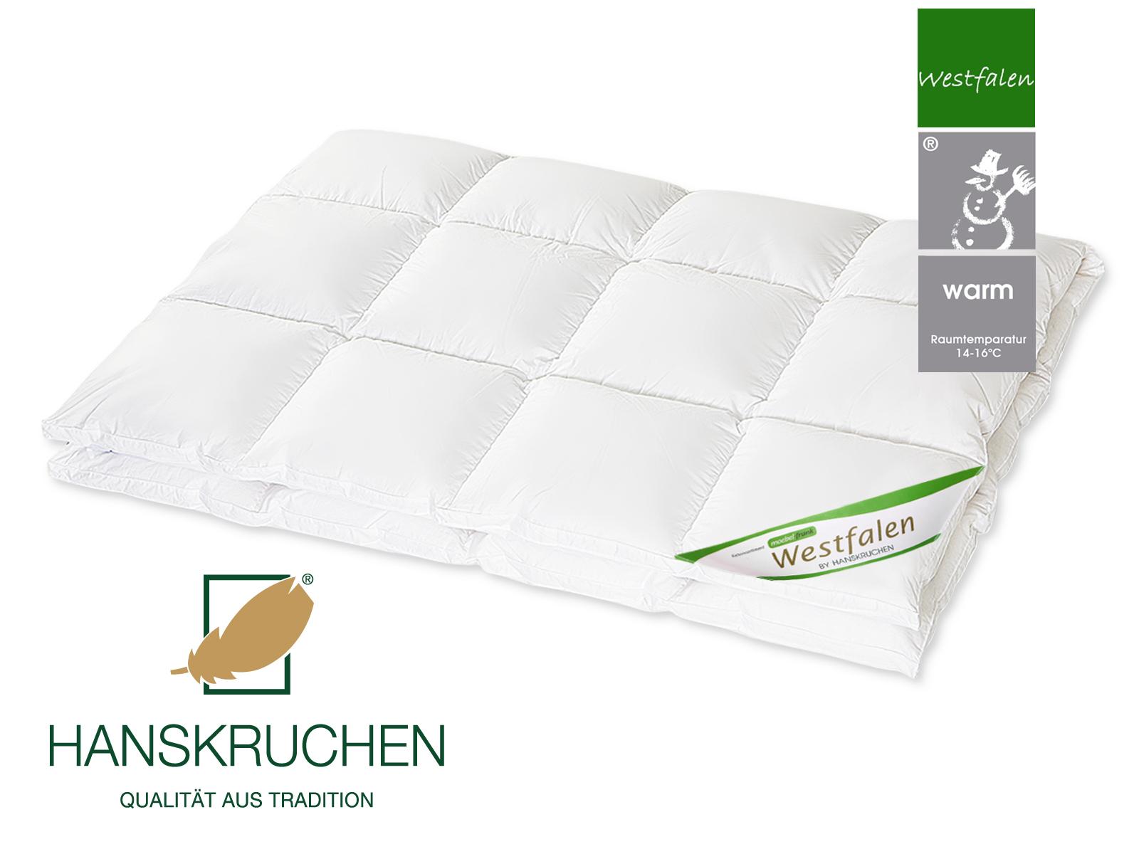 Daunenbettdecke 90% neue Landdaunen Westfalen Baumwolle Grüne Gans HANSKRUCHEN – Bild 5