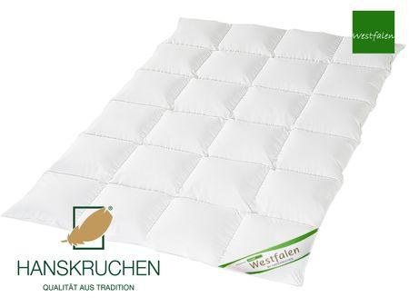 Daunenbettdecke 90% neue Landdaunen Westfalen Baumwolle Grüne Gans HANSKRUCHEN