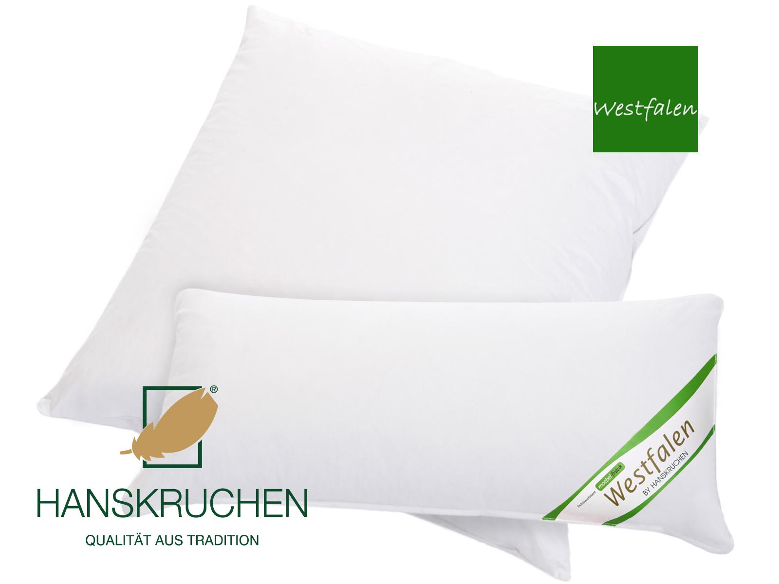 Kopfkissen neue westfälische Landfedern und Daunen Klasse 1 Baumwolle Deutsches Qualitätsprodukt Hanskruchen – Bild 1