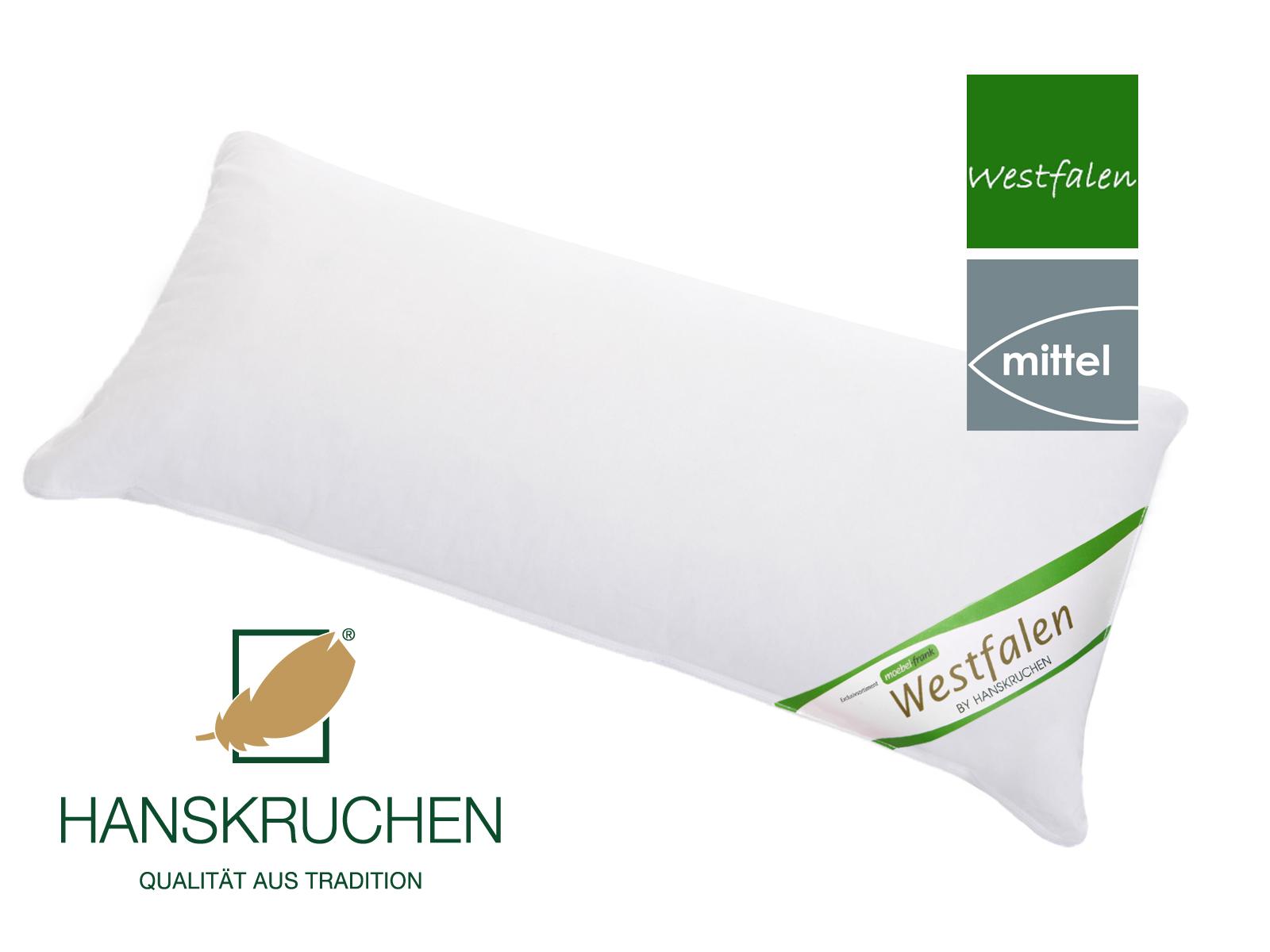 Kopfkissen neue westfälische Landfedern und Daunen Klasse 1 Baumwolle Deutsches Qualitätsprodukt Hanskruchen – Bild 3