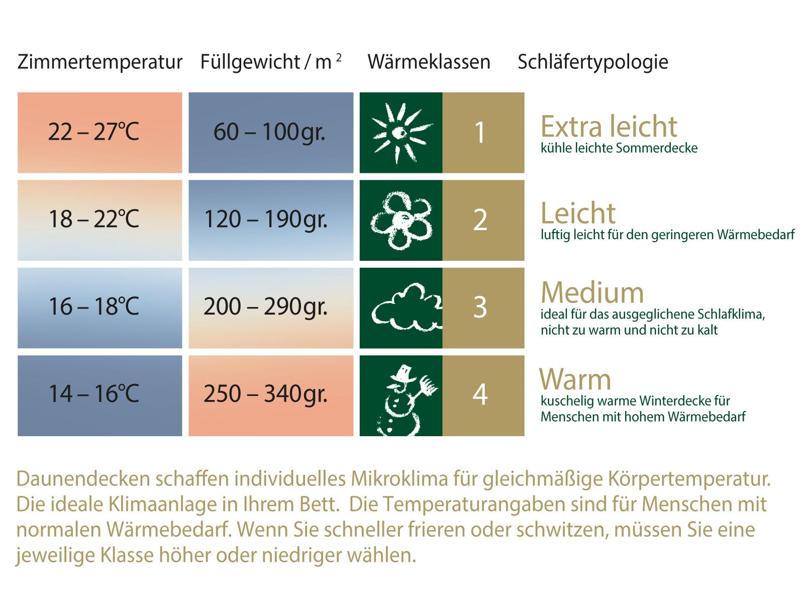Daunenbettdecke 90% neue weiße Daunen Oldenburg Baumwolle HANSKRUCHEN – Bild 2