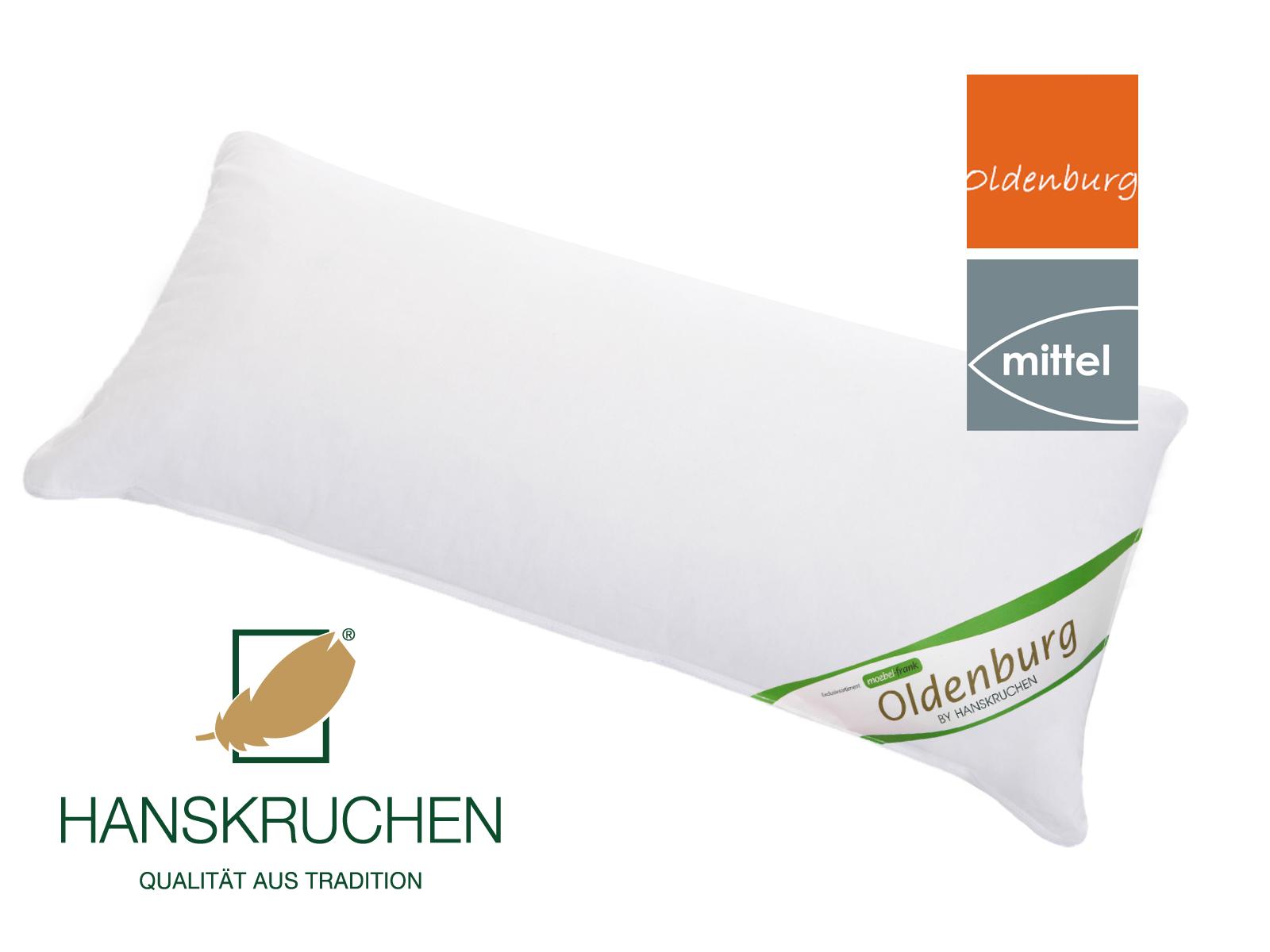 Kopfkissen neue weiße Landdaune und -federn Baumwolle Oldenburg 80x80cm und 40x80cm Hanskruchen – Bild 3