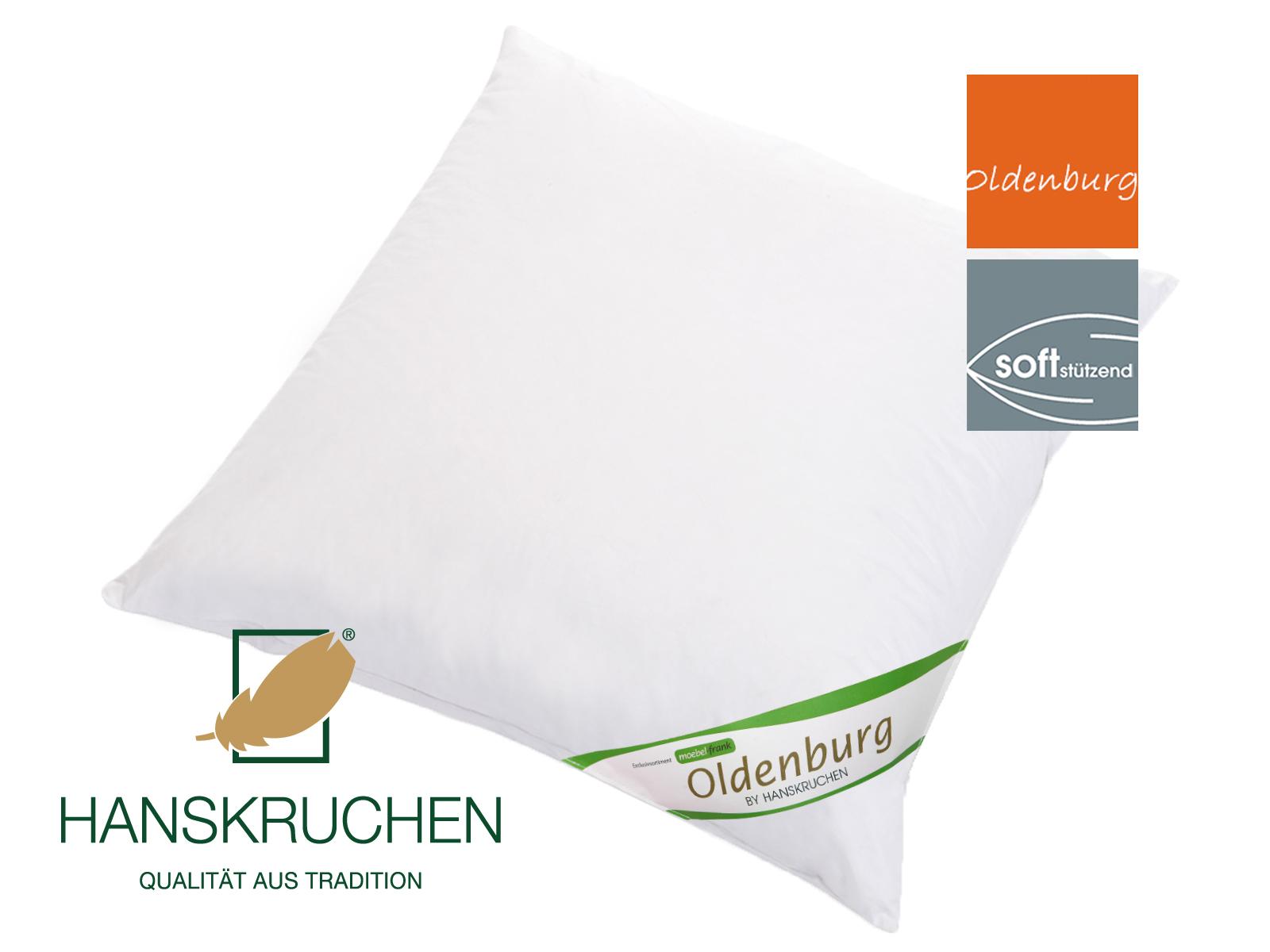 3-Kammer Kopfkissen neue weiße Landdaune und -federn Baumwolle Oldenburg 80x80cm und 40x80cm Hanskruchen – Bild 4