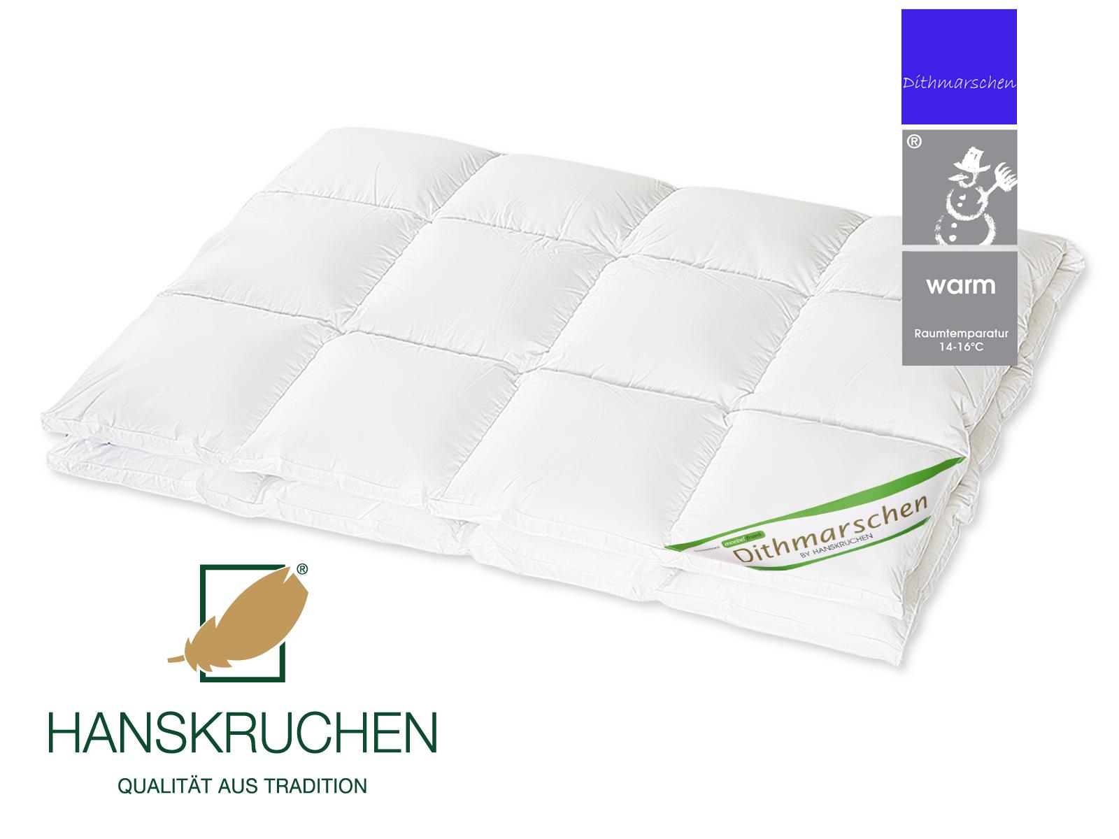 Daunenbettdecke 100% neue weiße Daunen Dithmarschen Bettdecke Baumwolle Exclusiv von HANSKRUCHEN – Bild 7