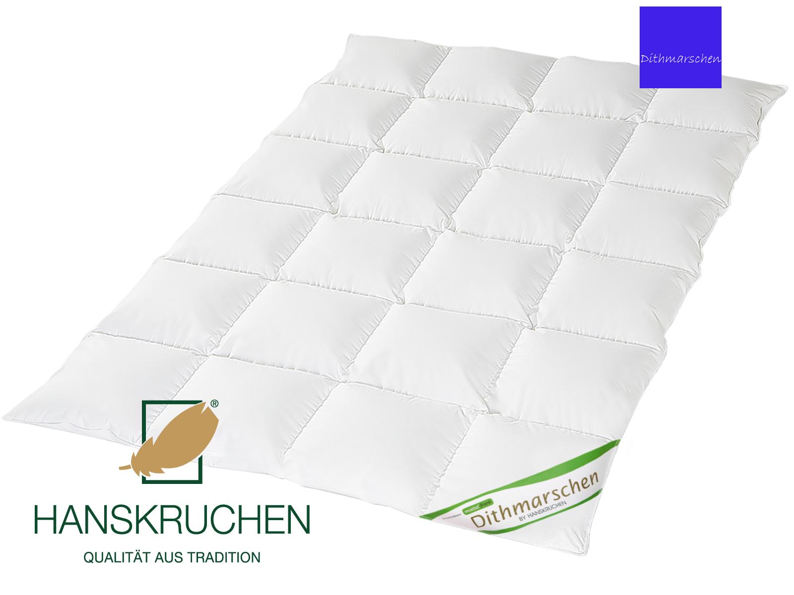 Daunenbettdecke 100% neue weiße Daunen Dithmarschen Bettdecke Baumwolle Exclusiv von HANSKRUCHEN – Bild 1