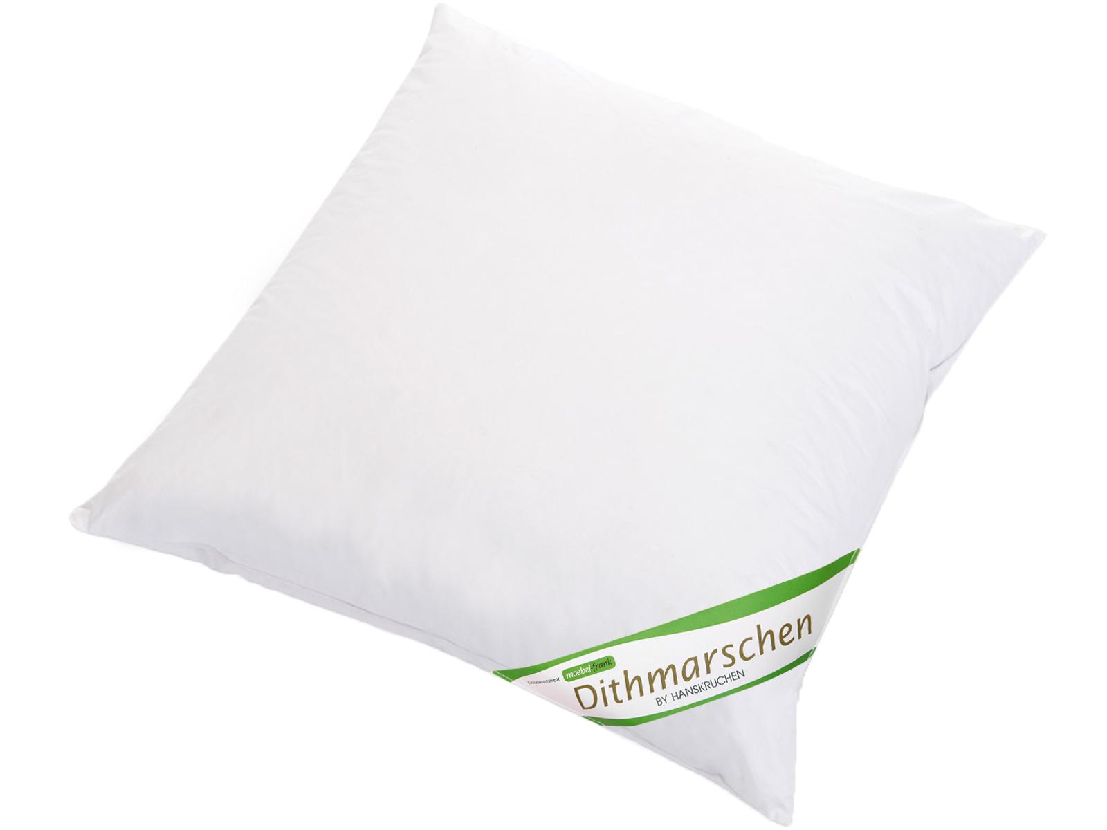 3-Kammer Kopfkissen neue weiße Gänsedaune und -federn Baumwolle Dithmarschen 80x80cm und 40x80cm – Bild 6