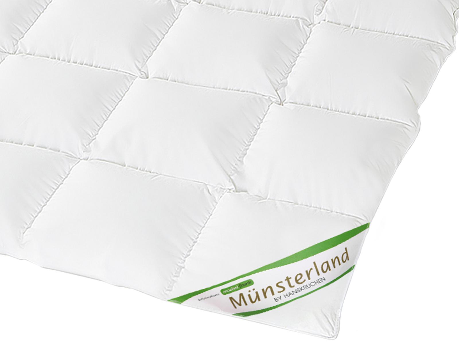 Daunenbettdecke 100% neue weiße Daunen Münsterland Baumwolle HANSKRUCHEN – Bild 8