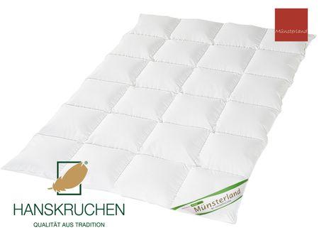 Daunenbettdecke 100% neue weiße Daunen Münsterland Baumwolle HANSKRUCHEN