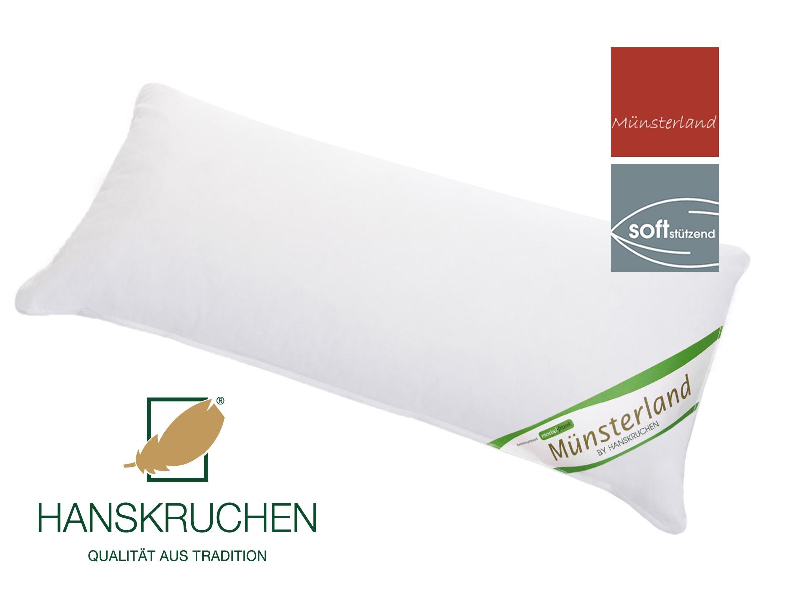 3-Kammer Kopfkissen neue Gänsedaune und -federn Baumwolle Münsterland 80x80cm und 40x80cm – Bild 3