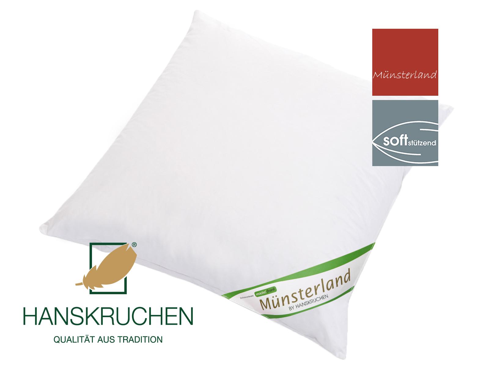 3-Kammer Kopfkissen neue Gänsedaune und -federn Baumwolle Münsterland 80x80cm und 40x80cm – Bild 4