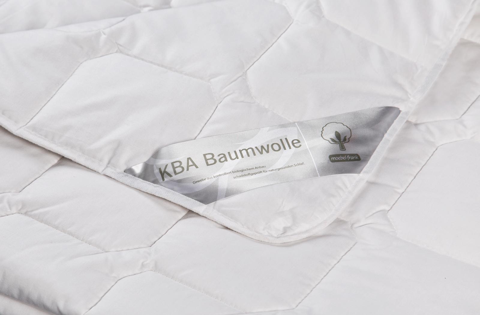 Bettdecke Wild-Seide kbA Bio Baumwolle ver. Größen Steppbett Natur Nika – Bild 4