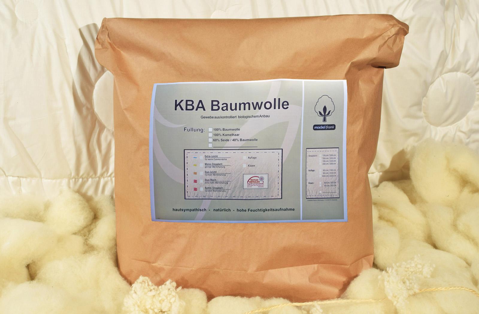 Bettdecke Wild-Seide kbA Bio Baumwolle ver. Größen Steppbett Natur Nika – Bild 5