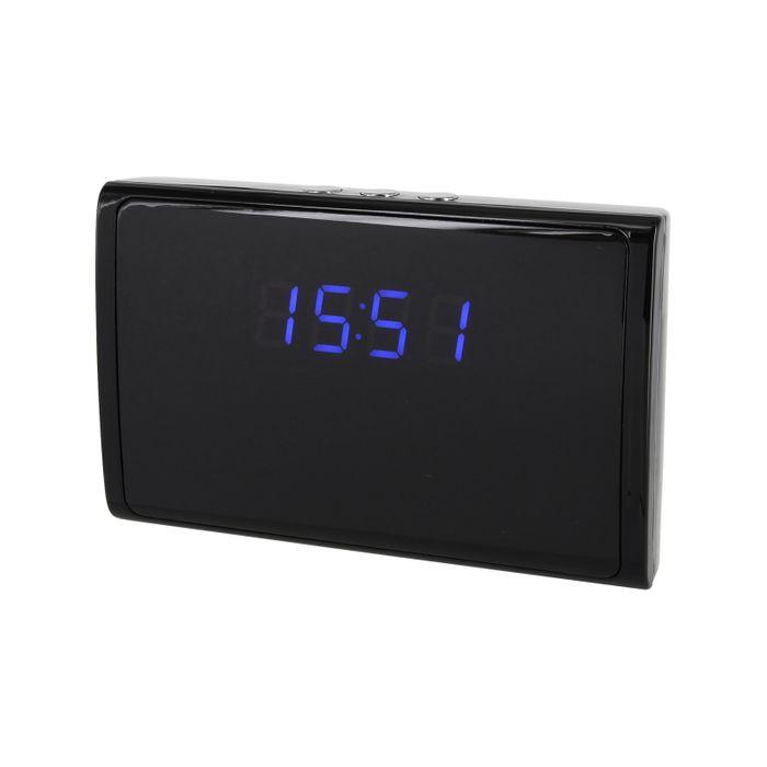 LED Tischuhr Standuhr Uhr mit versteckter Kamera 90° 5MP 32GB Bewegungserkennung Mikrofon – Bild 1