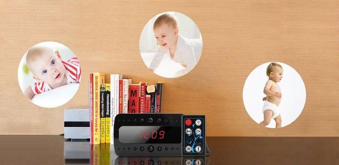 Full HD 1080P Wecker Uhr mit versteckter Kamera getarnte Nachtsicht Mikrofon Bewegungserkennung – Bild 2