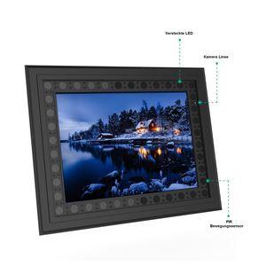 Versteckte Kamera in Bilderrahmen mit Bewegungserkennung, Endlosaufzeichnung, nichtglimmende integrierte Nachtsicht, Starlight Kamera, hohe Akkulaufzeit - Bild 2