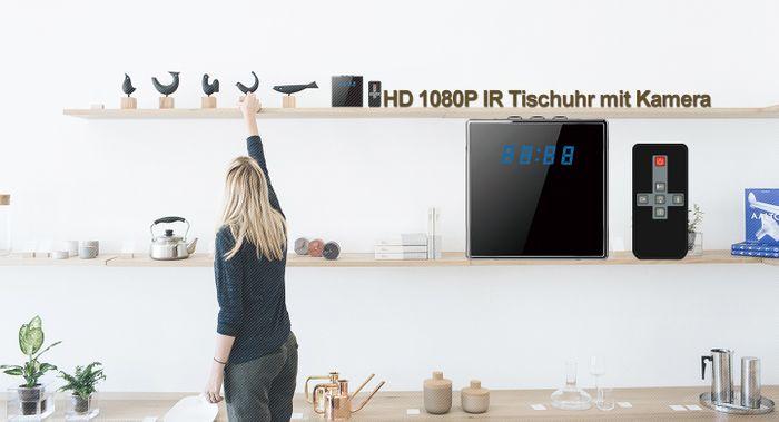 Full HD 1080P Tisch Wecker Uhr mit versteckter Kamera 140° 5 MP Mikrofon 64GB – Bild 3