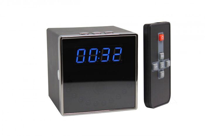 Full HD 1080P Tisch Wecker Uhr mit versteckter Kamera 140° 5 MP Mikrofon 64GB – Bild 1