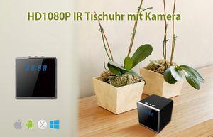 Full HD 1080P Tisch Wecker Uhr mit versteckter Kamera 140° 5 MP Mikrofon 64GB - Bild 2