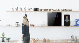 Full HD 1080P Tisch Wecker Uhr mit versteckter Kamera 140° 5 MP Mikrofon 64GB - Bild 3