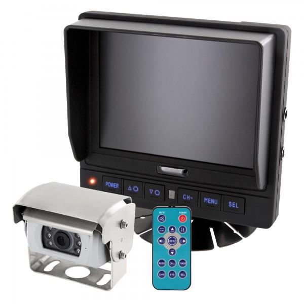 "LKW TRUCK Wohnmobil Rückfahrssystem 5,6"" Monitor + Auto Shutter Rückfahrkamera CCD 180° 10-32 V mit Mikrofon – Bild 1"