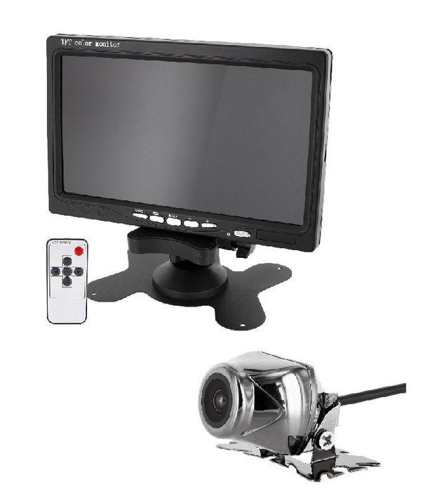 "Auto Rückfahrsystem mit 7"" (17,8cm) Monitor + Rückfahrkamera 170° Chrom – Bild 1"