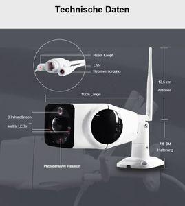 H.265 Panorama WLAN WiFI IP Kamera Überwachungskamera 180° Nachtsicht 2 Megapixel IP66 Outdoor - Bild 5