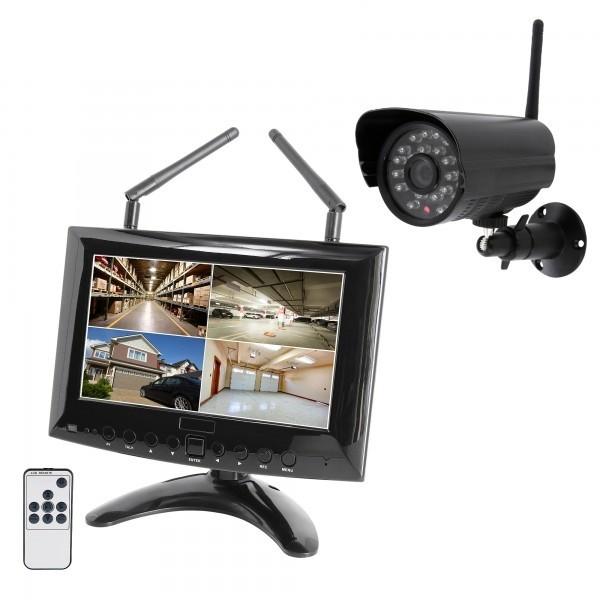 HD IP Digitales Echtzeit Funk-Überwachungssystem 1 bis 4 Kameras Smartphone App HWT-963 Starter-Set – Bild 1