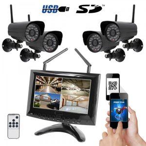 HD IP Digitales Echtzeit Funk-Überwachungssystem 1 bis 4 Kameras Smartphone App HWT-963 Starter-Set - Bild 8