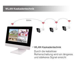 10,1 Zoll NVR W-LAN IP Funk Überwachungsmonitor mit bis zu 4 WiFi W-LAN Kameras mit Türklinkel - Bild 5