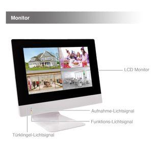 10,1 Zoll NVR W-LAN IP Funk Überwachungsmonitor mit bis zu 4 WiFi W-LAN Kameras mit Türklinkel - Bild 4