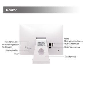 10,1 Zoll NVR W-LAN IP Funk Überwachungsmonitor mit bis zu 4 WiFi W-LAN Kameras mit Türklinkel - Bild 6